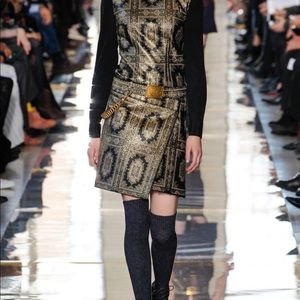 Tory Burch Printed Leather Skirt